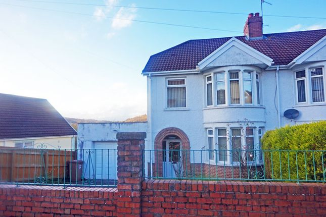 Thumbnail Semi-detached house for sale in Tabor Road, Maesycwmmer
