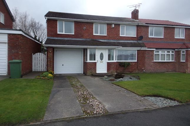 Thumbnail Semi-detached house for sale in Solingen Estate, Blyth