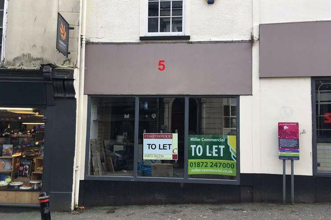 Thumbnail Retail premises to let in 5, Killigrew Street, Falmouth