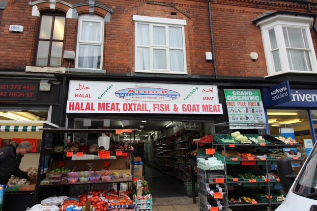 Thumbnail Retail premises for sale in High Street, Erdington