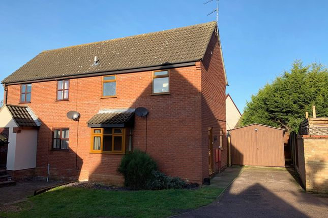 Thumbnail Semi-detached house for sale in Hughes Stanton Way, Lawford, Manningtree