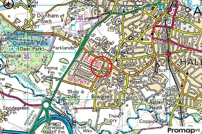 Town Plan of The Springs, Bowdon, Altrincham WA14