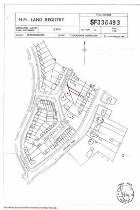 Land for sale in Hawksworth Avenue, Leek, Staffordshire