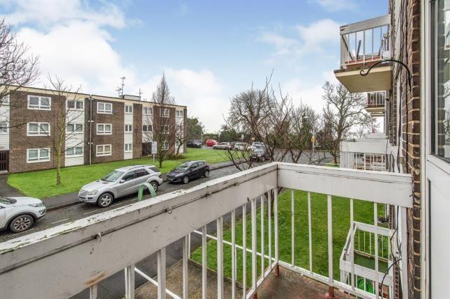 Balcony of Fountain Walk, Northfleet, Gravesend, Kent DA11