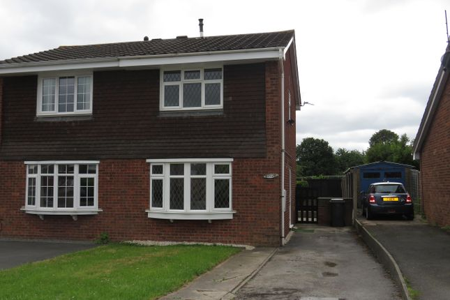 Thumbnail Semi-detached house to rent in Meadow Lane, Newhall, Swadlincote