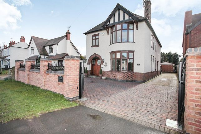 Thumbnail Detached house for sale in Rugby Road, Bulkington, Bedworth