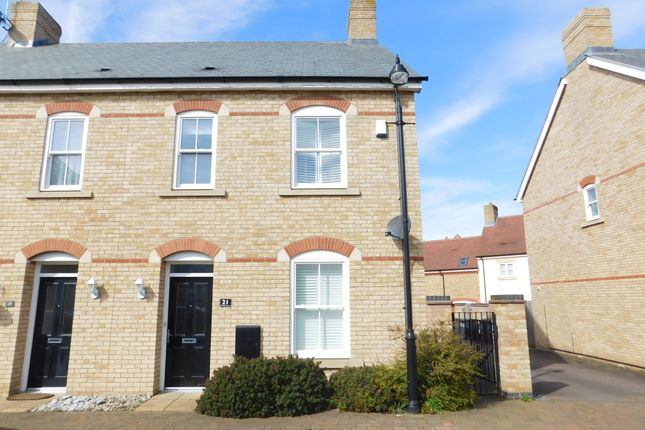 Thumbnail End terrace house to rent in Charlotte Avenue, Stotfold, Hitchin