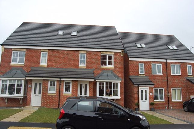 Thumbnail Terraced house to rent in Casey Court, Ashington
