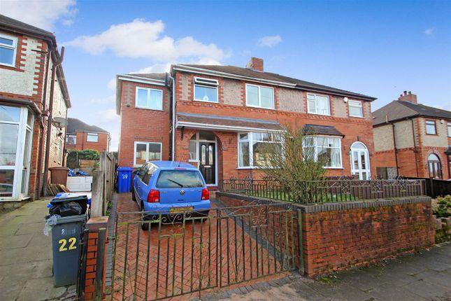 Front of Stross Avenue, Tunstall, Stoke-On-Trent ST6