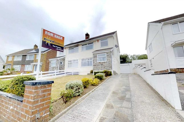 Thumbnail Semi-detached house for sale in Ashleigh Close, Tamerton Foliot