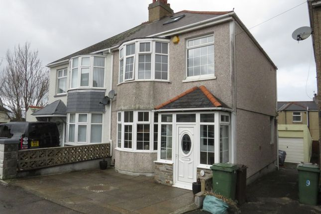Thumbnail Semi-detached house for sale in Ayreville Road, Beacon Park, Plymouth