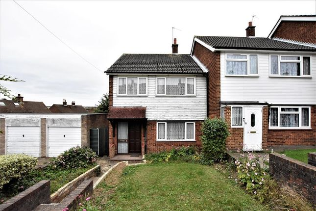 Thumbnail End terrace house for sale in Langlands Drive, Darenth, Kent