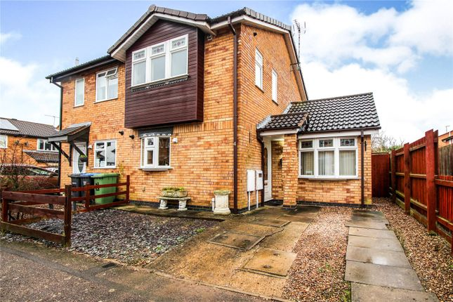 Thumbnail Semi-detached house for sale in Bushnell Close, Broughton Astley, Leicester