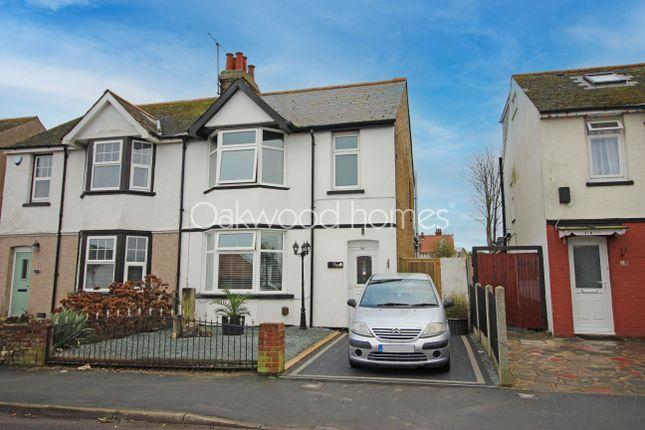 Thumbnail Semi-detached house for sale in Cross Road, Birchington
