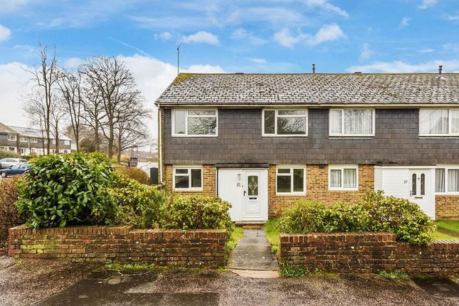 Thumbnail End terrace house for sale in Downland Drive, Crawley