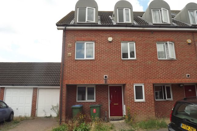 Thumbnail End terrace house for sale in Teasel Crescent, Thamesmead