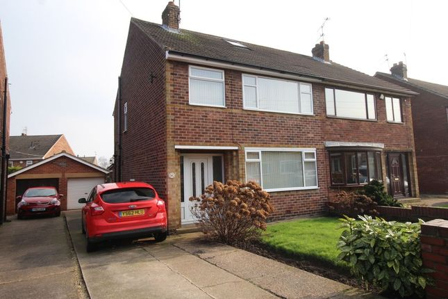 Thumbnail Semi-detached house for sale in St. Christophers Crescent, Scawsby, Doncaster