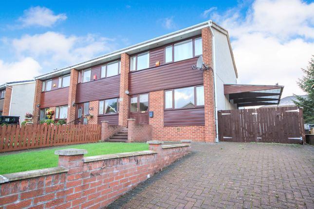 Thumbnail End terrace house for sale in Kilchattan Drive, Glasgow