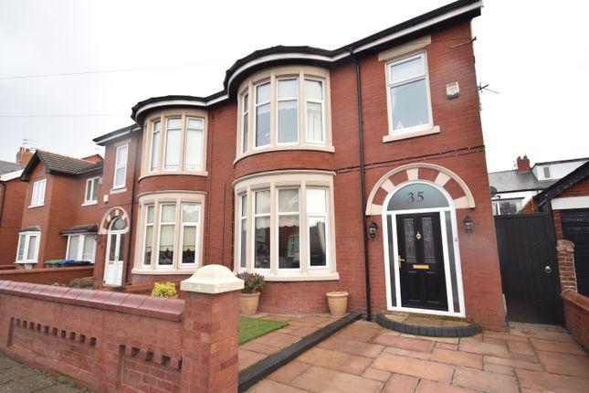 Thumbnail Semi-detached house to rent in Longton Road, Blackpool, Lancashire