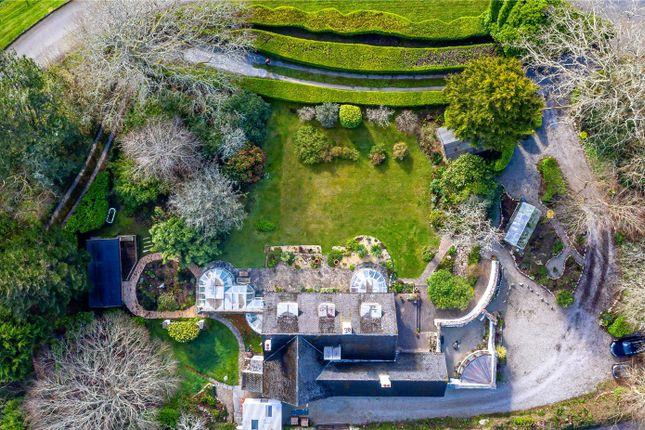 Aerial of Mawnan Smith, Falmouth, Cornwall TR11