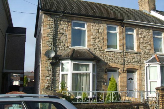 Thumbnail Semi-detached house to rent in Morfa Street, Bridgend