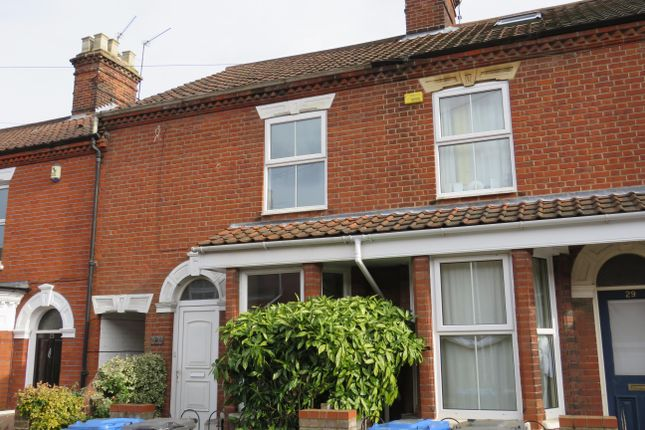 Thumbnail Terraced house to rent in Merton Road, Norwich