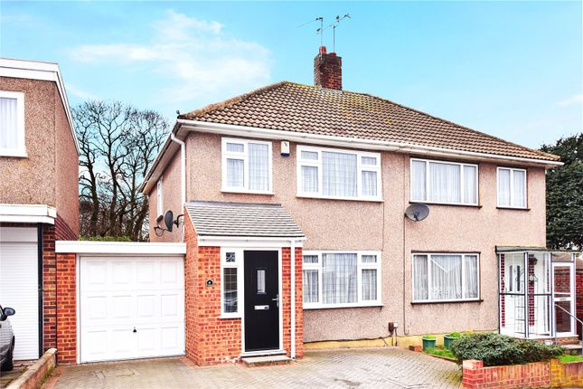 Thumbnail Semi-detached house for sale in Spurrell Avenue, Joydens Wood, Kent