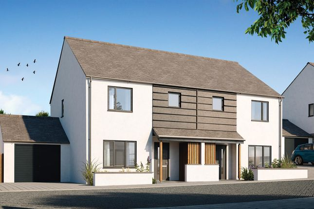 Thumbnail Semi-detached house for sale in Halwyn Road, Crantock, Newquay
