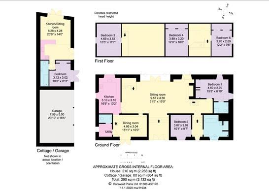 Floor Plan of Bredons Norton, Tewkesbury, Worcestershire GL20