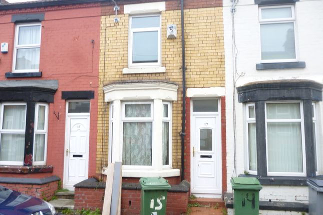 Thumbnail Terraced house to rent in Yelverton Road, Birkenhead