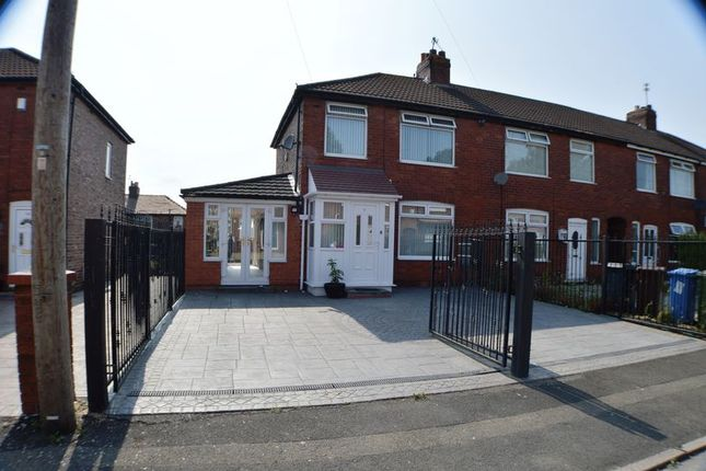 Thumbnail End terrace house for sale in Heristone Avenue, Denton, Manchester
