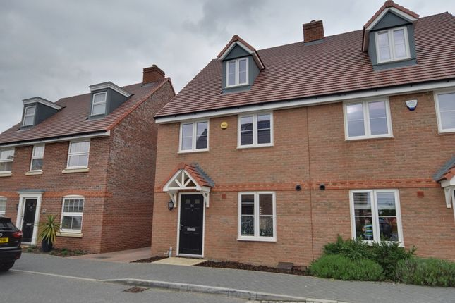 Thumbnail Semi-detached house for sale in Aspen Gardens, Hitchin, Bedfordshire