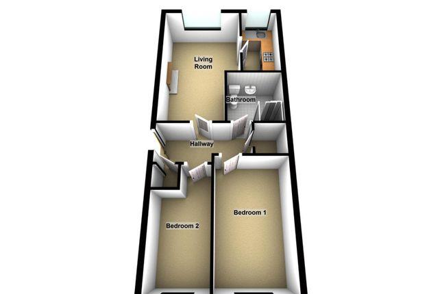 Floor Plan of Grange Court, Dudley DY1