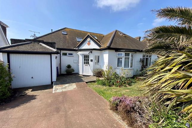 Thumbnail Detached bungalow for sale in Marine Drive, Bishopstone, East Sussex