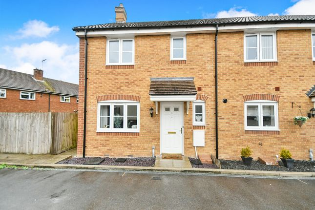 Thumbnail End terrace house for sale in St Josephs Way, Lyneham, Chippenham