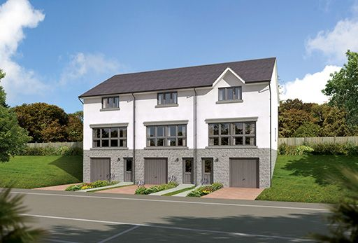 "Thumbnail Terraced house for sale in ""The Fairley Mid"" at Old Lang Stracht, Kingswells, Aberdeen"