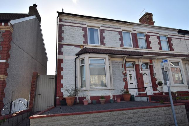 Thumbnail End terrace house for sale in Court Road, Barry