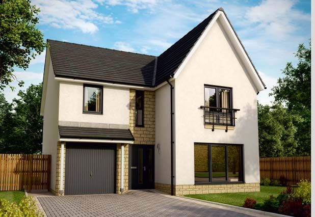 "Thumbnail Detached house for sale in ""Azure Garden Room Almondell  "" at Ochiltree Drive, Mid Calder, Livingston"