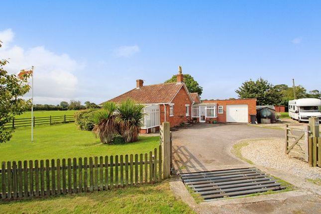 Thumbnail Detached bungalow for sale in Mark Road, Burtle, Bridgwater