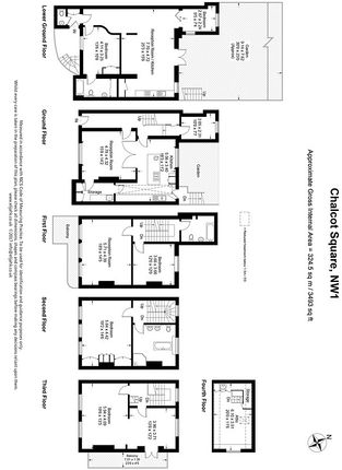 Floor Plan of Chalcot Square, London NW1