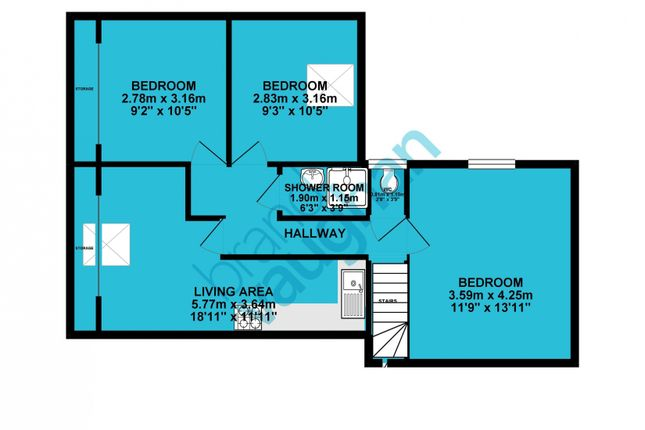 Floorplan of The Bay, Thorn Road, Worthing BN11