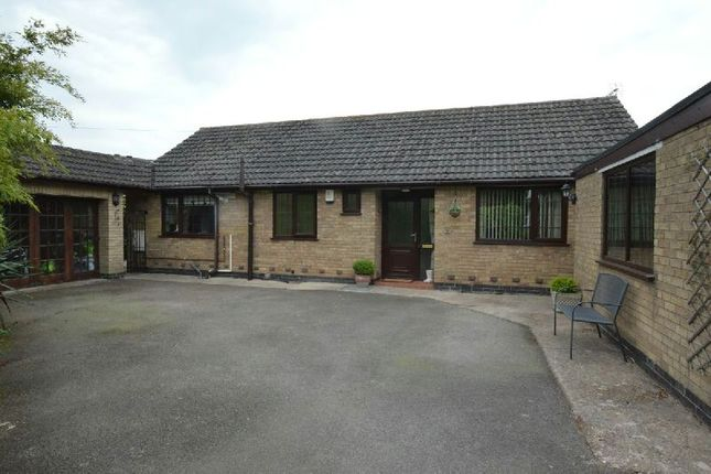 Thumbnail Detached bungalow for sale in Forest Road, Huncote, Leicester