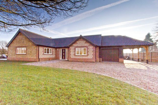Thumbnail Detached bungalow for sale in Barrows Hole Lane, Little Dunham, King's Lynn