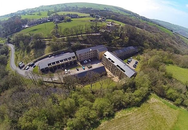 Thumbnail Flat for sale in Kinderlee Mill South, Kinderlee Way, Chisworth, Glossop, Derbyshire