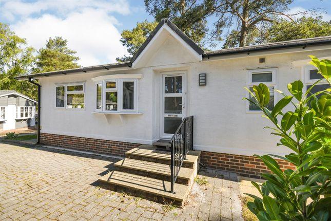 Thumbnail Mobile/park home for sale in Drakes Road, Lone Pine Park, Ferndown