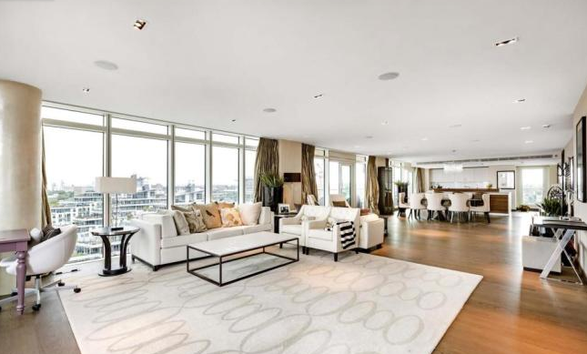Thumbnail Flat for sale in Ascensis Tower, Juniper Drive, Battersea Reach, London