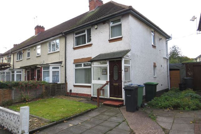 Thumbnail End terrace house for sale in Valley Road, Bearwood, Smethwick