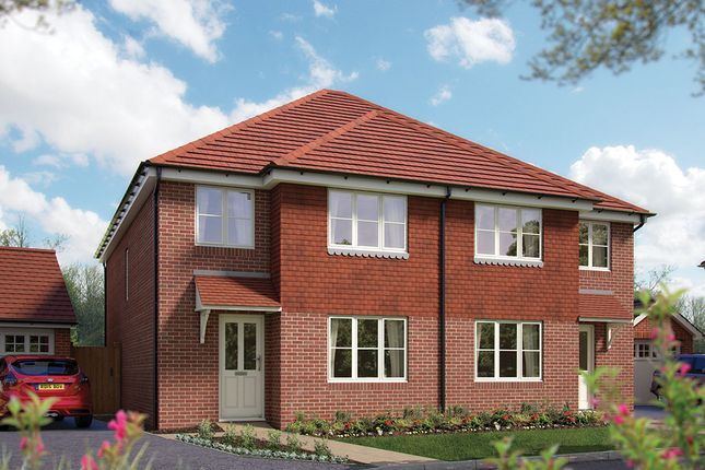 "Thumbnail Semi-detached house for sale in ""The Salisbury"" at Matthewsgreen Road, Wokingham"