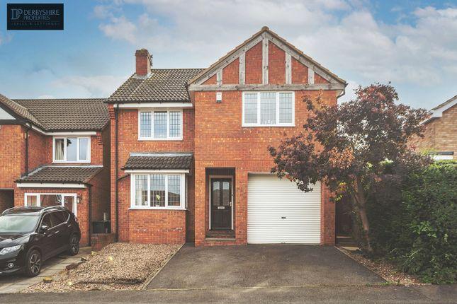 Thumbnail Detached house for sale in Park Close, Kilburn, Belper