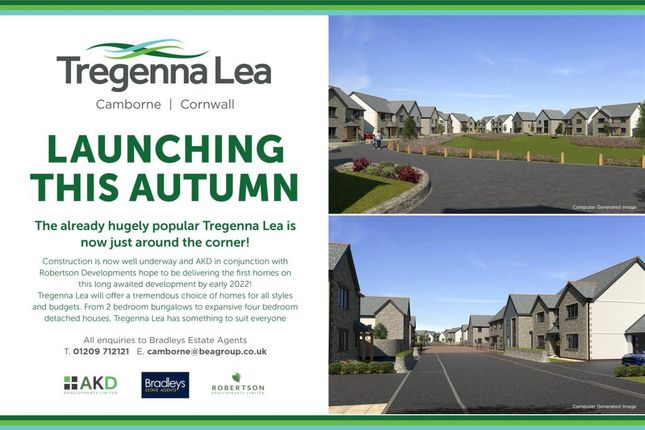 Thumbnail Terraced bungalow for sale in Tregenna Lane, Camborne, Cornwall